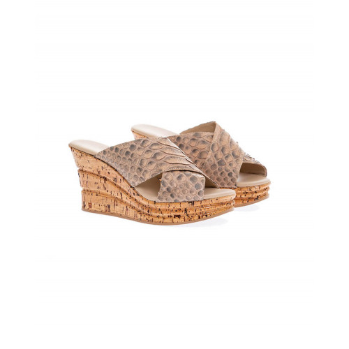 Platform sandals in natural python Fernando Pensato for women