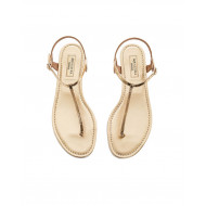 Gold colored thong sandals Aquazurra for women