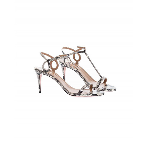 Fine sandals in serpent Aquazurra for women