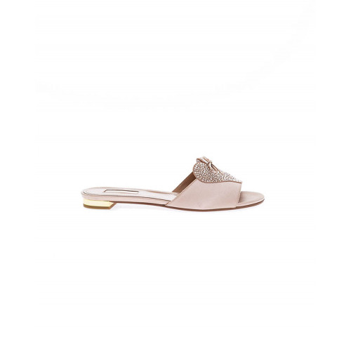 Achat Powdery pink mules with Swarovsky stones Aquazurra for women - Jacques-loup
