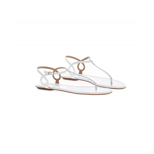White thong sandals Aquazurra for women