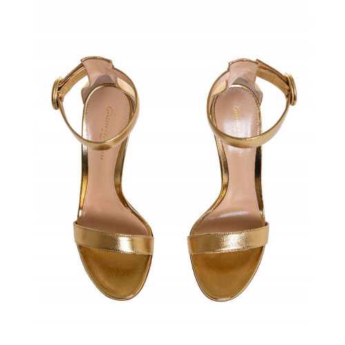 Achat High-heeled golden sandales Portofino Gianvito Rossi for women - Jacques-loup
