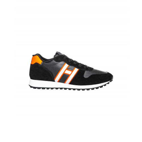 Achat Black sneakers with orange details Running Hogan for men - Jacques-loup
