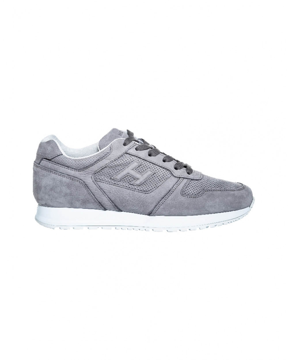 Suede and calf leather sneakers with