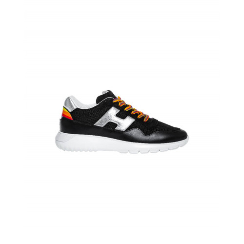 "Black and silver sneakers ""I-Cube"" Hogan for women"