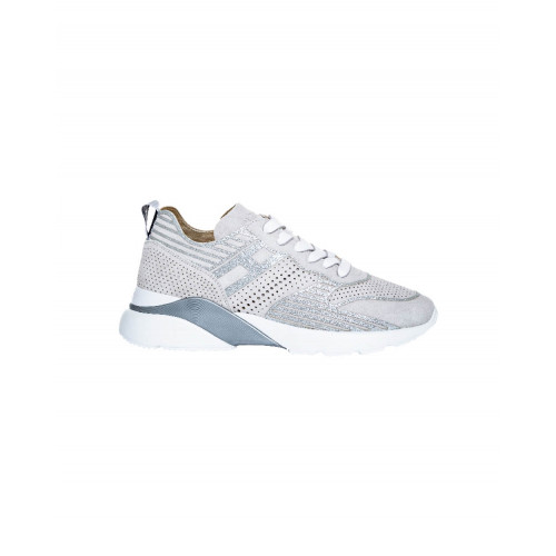 """Grey and silver sneakers Hogan """"Active One"""" for women"""