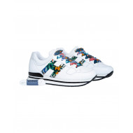 "White sneakers with multicolor decorations ""222"" Hogan for women"
