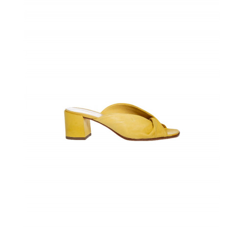Yellow draped mules Jacques Loup for women