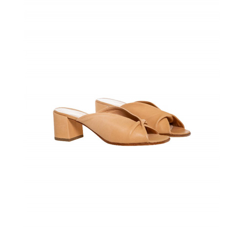 Achat Camel colored draped mules Jacques Loup for women - Jacques-loup