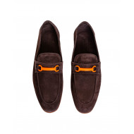 Brown mocassins with rubber bit Jacques Loup for men