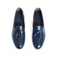 Moccasins Fratelli Rossetti navy blue with tassels for men