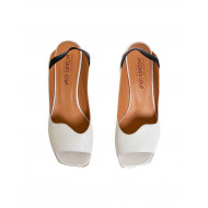 Ivory and black sandals Mara Bini for women