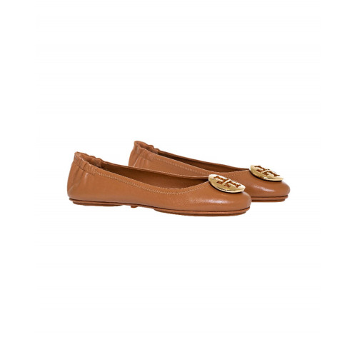 "Camel colored ballerinas ""Minnie Travel Ballet"" Tory Burch for women"