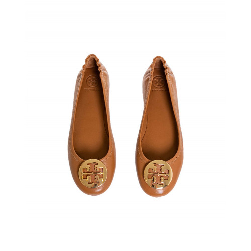 Achat Camel colored ballerinas Minnie Travel Ballet Tory Burch for women - Jacques-loup