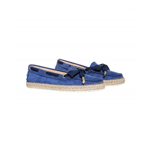 Blue moccasins - rope-soled sandals Tod's for women