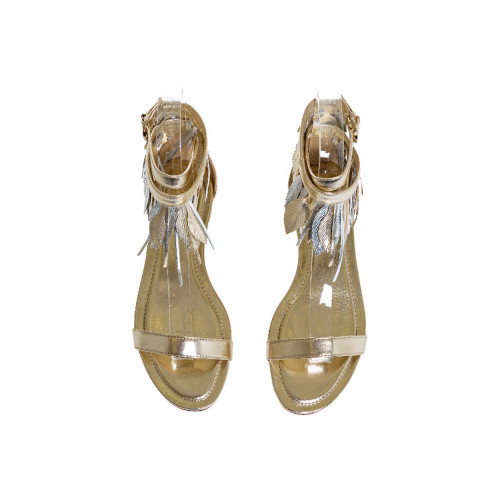 Achat Gold colored sandals with decorative leaves Tod's for women - Jacques-loup