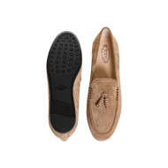 Brown moccasins with decorative tassels Tod's for women
