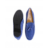 Blue moccasins with decorative tassels Tod's for women