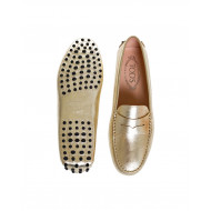Golden moccasins with penny strap Tod's for women