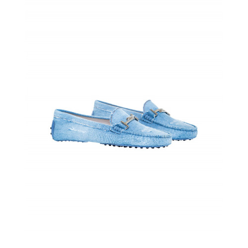 Achat Light blue denim moccasins with metallic bit Tod's for women - Jacques-loup