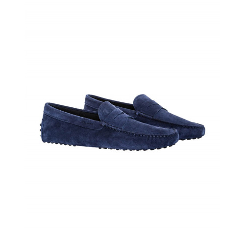 Blue moccasins with penny strap Tod's for men