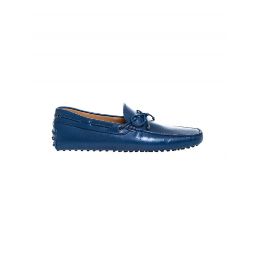Navy blue moccasins with plaited shoelace Tod's for men