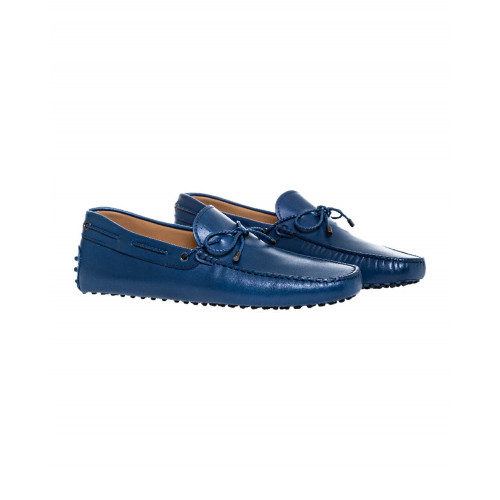 Achat Navy blue moccasins with plaited shoelace Tod's for men - Jacques-loup