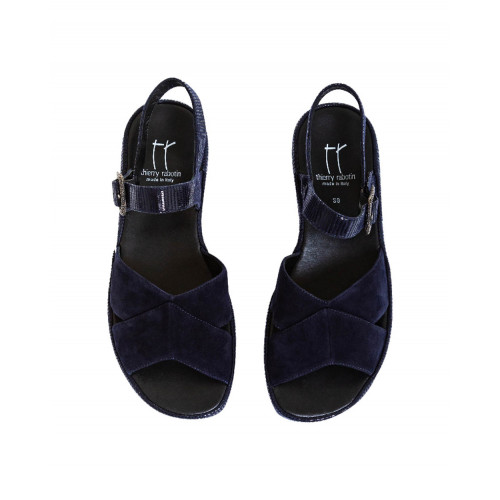 Navy blue sandals Thierry Rabotin for women