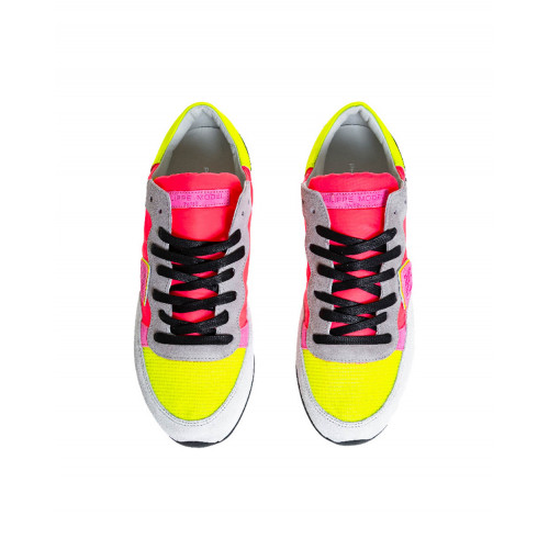 "Multicolored sneakers ""Tropez Pop Fluo"" Philippe Model for women"