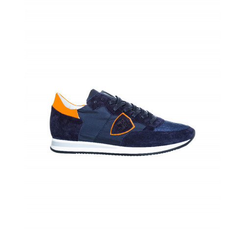 "Blue and orange sneakers ""Tropez"" Philippe Model for men"