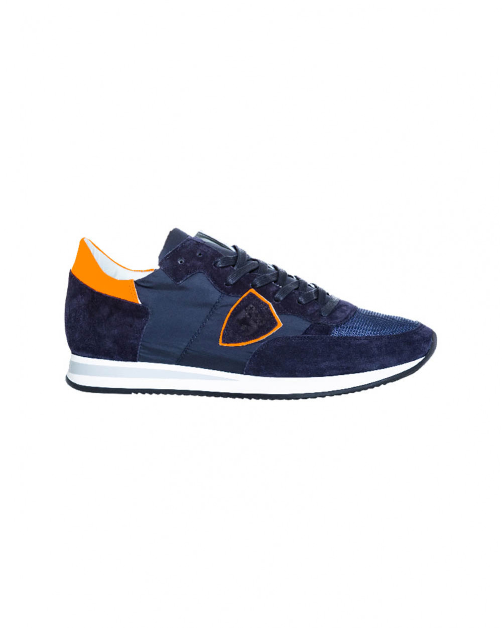 """Blue and orange sneakers """"Tropez"""" Philippe Model for men"""