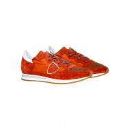 "Orange sneakers ""Tropez"" Philippe Model for men"
