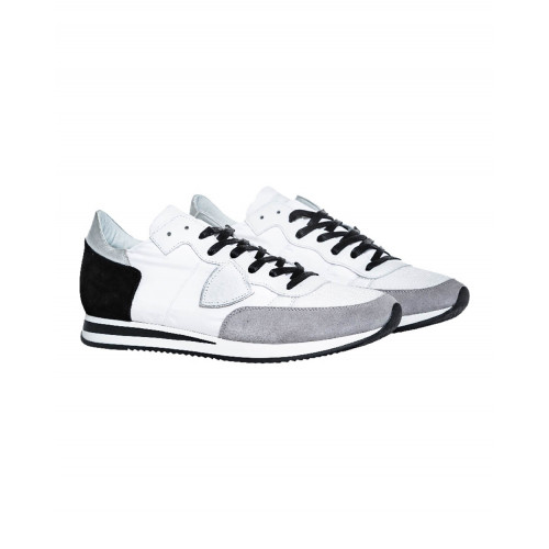 "White and grey sneakers ""Tropez"" Philippe Model for men"