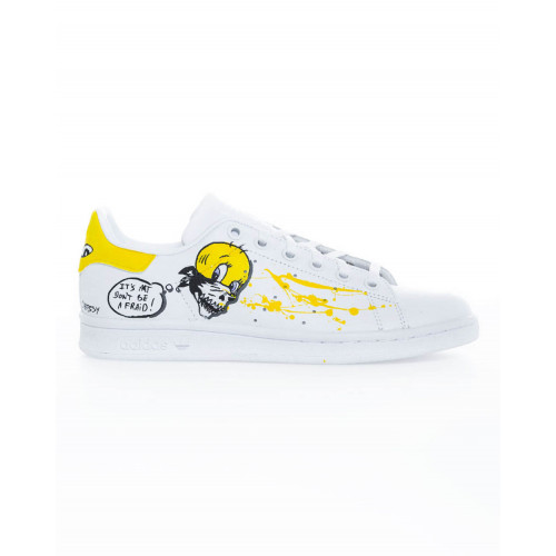 "Sneakers Adidas by Debsy ""Scary Titi"" white for women"