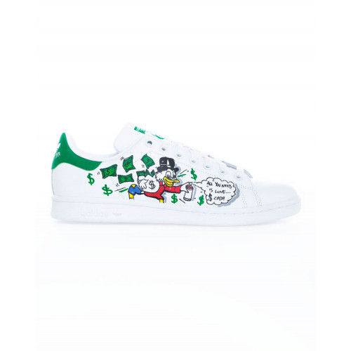 "Sneakers Adidas by Debsy ""Picsou"" white for men"