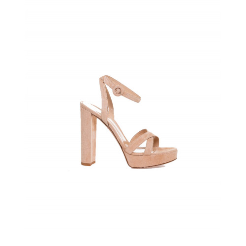 "High-heeled sandals Gianvito Rossi ""Poppy"" light pink for women"