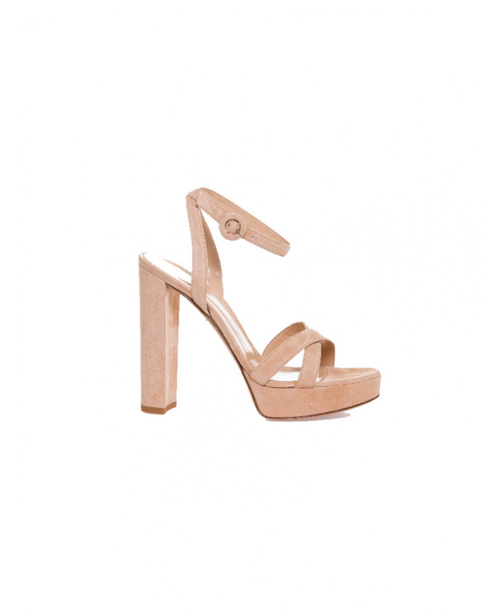 """High-heeled sandals Gianvito Rossi """"Poppy"""" light pink for women"""
