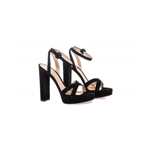 Achat High-heeled black sandals Gianvito Rossi Poppy for women - Jacques-loup