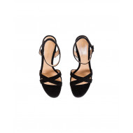 "High-heeled black sandals Gianvito Rossi ""Poppy"" for women"