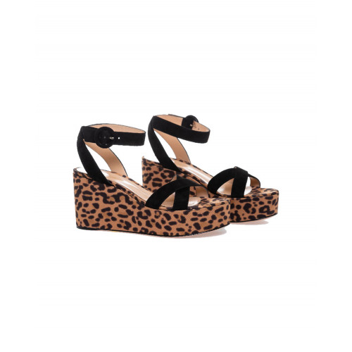 Achat Sandals Gianvito Rossi with platform heel and leopard print for women - Jacques-loup