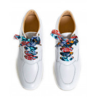 "Sneakers Hogan ""Interactive"" white with multicolored laces for women"