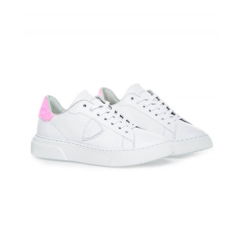 Achat White sneakers with fuschia counter Temple Philippe Model for women - Jacques-loup