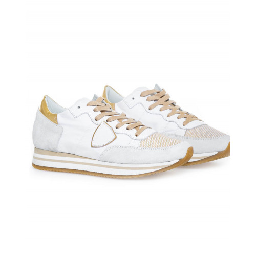 "White/platina sneakers ""Tropez Higher"" Philippe Model for women"