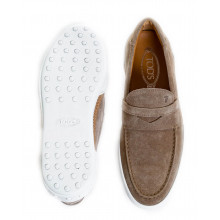 "Moccasins Tod's ""Riviera"" beige with penny strap for men"