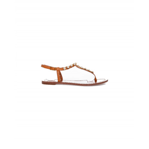 Achat Toe shoes Emmy Pearl Tory Burch cognac color with pearls for women - Jacques-loup