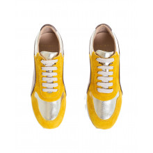 Sneakers Mai Mai yellow, bronze and platinum for women
