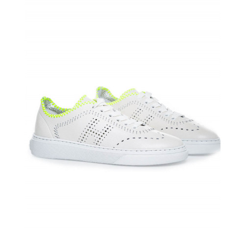 Achat Sneakers Hogan Cassetta white/yellow for women - Jacques-loup