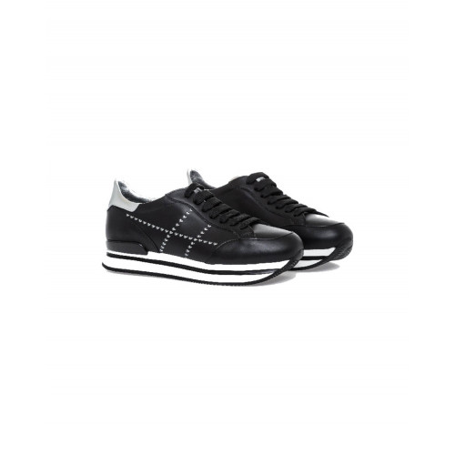 "Sneakers Hogan ""222"" black/silver for women"