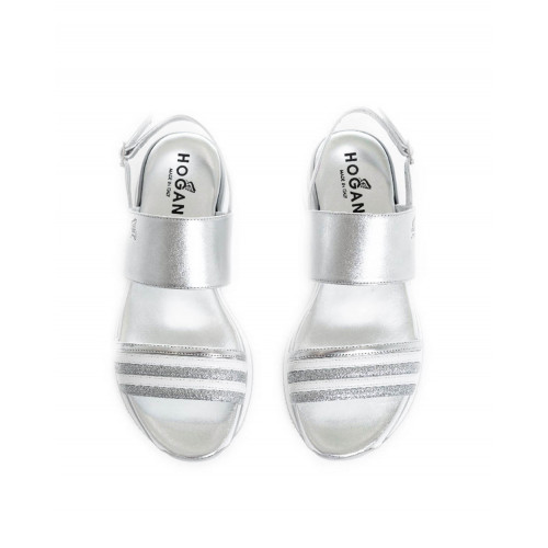 "Sandals Hogan ""222"" silver/white for women"
