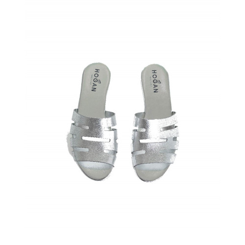 Achat Slipper Hogan Valencia silver for women - Jacques-loup